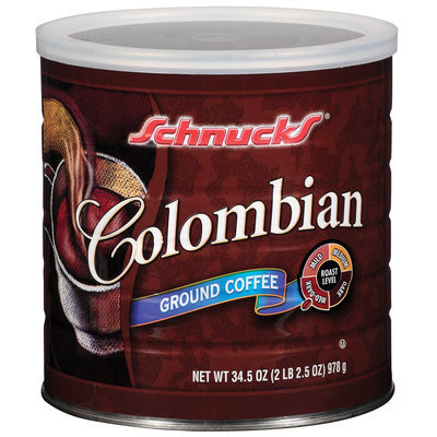 Schnucks Ground Colombian Coffee 34.5 Oz Canister