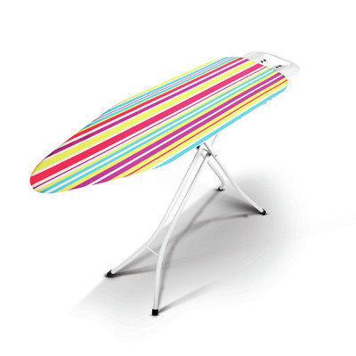 Bonita IB03-40MS Metallo Ironing Board In Multi Stripe Print