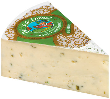 Delice De France Grand Camembert W/Herbs Cheese 1 Ct Wedge