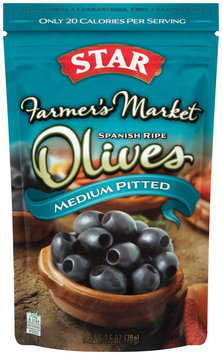 Star® Farmer's Market Medium Pitted Spanish Ripe Olives 2.5 oz Bag