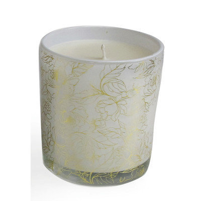 Jay Import Inc Floral Filled White Tea Scent Candle