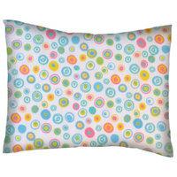 Stwd Fun Circles Cotton Flannel Crib/Toddler Pillow Case