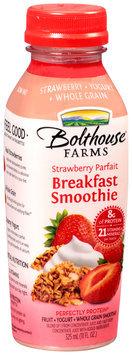 Bolthouse Farms® Strawberry Parfait Fruit + Yogurt + Whole Grain Breakfast Smoothie 11 fl. oz. Bottle
