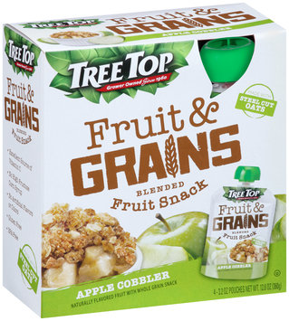 Tree Top® Fruit & Grains Apple Cobbler Blended Fruit Snack 4-3.2 oz. Pouch