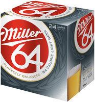 Miller64 12 Oz Cans Beer 24 Pk Cube