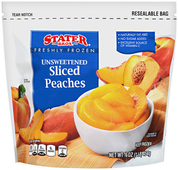 Stater Bros.® Freshly Frozen Unsweetened Sliced Peaches 16 oz Bag