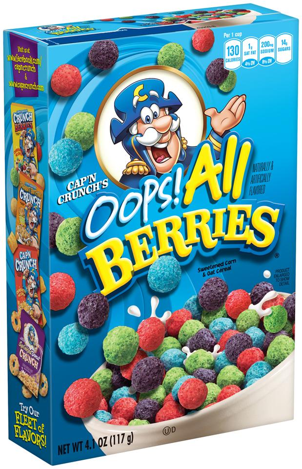 Cap'n Crunch's® Oops! All Berries® Sweetened Corn & Oat Cereal