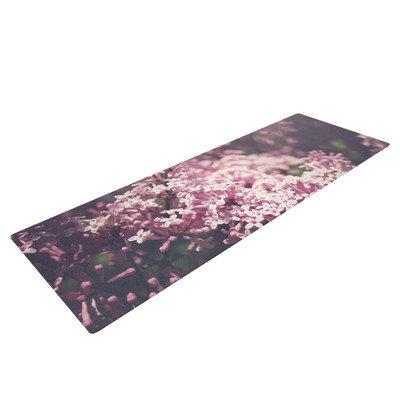 Kess Inhouse Lilacs by Jillian Audrey Floral Yoga Mat