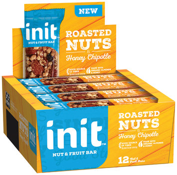 Init™ Roasted Nuts & Honey Chipotle Nut & Fruit Bars 12 ct Box