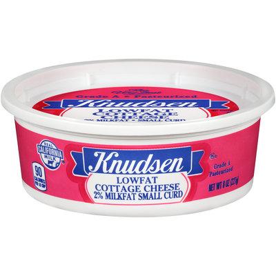 Knudsen 2% Milkfat Small Curd Lowfat Cottage Cheese 8 oz. Tub
