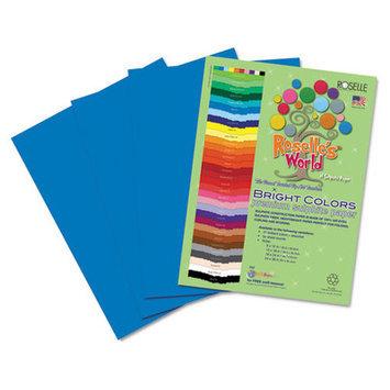 Roselle Paper Co 73901 Premium Sulphite Construction Paper 76 Lbs. 9 X 12 Blue 50/pack