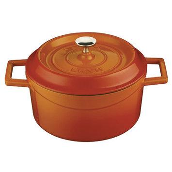 Lava Cookware Signature Enameled Cast-Iron Dutch Oven, 2.75 Qt, Orange Spice