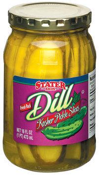 Stater Bros. Kosher Dill Slices Pickles 16 Fl Oz Jar