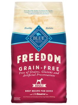 THE BLUE BUFFALO CO. BLUE™ Freedom® Grain-Free Beef Recipe For Adult Dogs