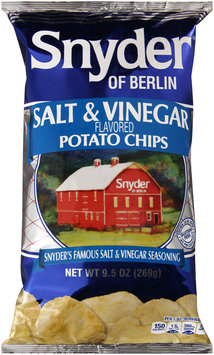 Snyder of Berlin® Salt & Vinegar Flavored Potato Chips 9.5 oz. Bag