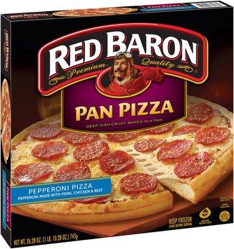 Red Baron® Pepperoni Pan Pizza 26.28 oz. Box