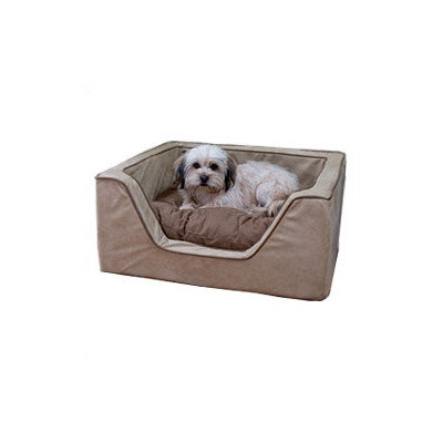 O'donnell Industries Odonnell Industries 21392 Luxury Large Square Dog Bed - Butter-Black