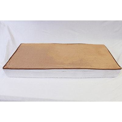 Bacati Quilted White & Chocolate Circles Changing Pad Cover (Brown)