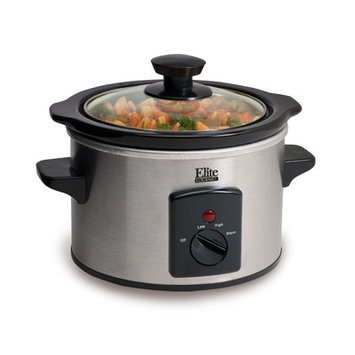 Pick Five Imports Inc Elite Gourmet 1.5-qt. Stainless Steel Mini Slow Cooker