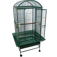 Yml Dome Top Wrought Iron Parrot Cage Color: Green