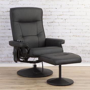 Zipcode Design Heated Massage Chair in Black