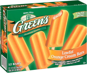 Green's® Orange Cream Bars 12-2.5 fl. oz. Bars