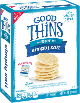 Good Thins Simply Salt Rice Snacks 3.5 oz. Box