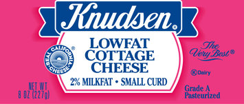 Knudsen Small Curd Lowfat 2% Milkfat Cottage Cheese 8 Oz Tub