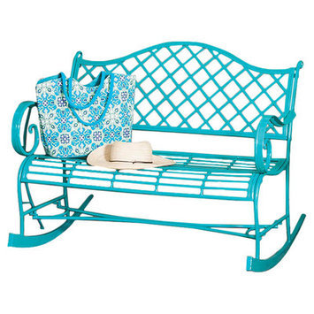 Evergreen Flag & Garden Newbury Indoor/Outdoor Rocking Bench