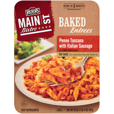 Reser's Fine Foods® Main St Bistro® Penne Toscana with Italian Sausage 20 oz Tray