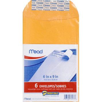 Meadwestvaco MEA76078 Mead Press It Seal It 6Ct 6 X 9 Envelopes