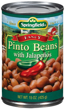 Springfield Fancy W/Jalapenos Pinto Beans 15 Oz Can
