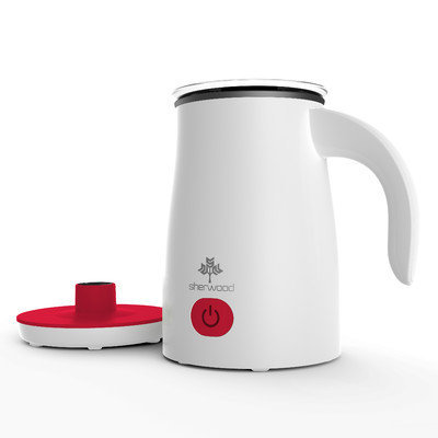 Sherwood Housewares Magnetic Electric Milk Frother and Warmer for Cappuccinos and Lattes Color: Red