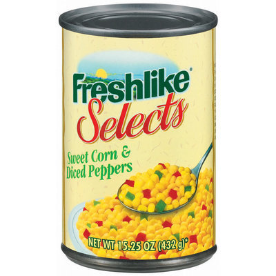 Freshlike Selects Sweet & Peppers Diced Corn 15.25 Oz Can
