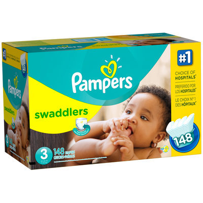 Pampers Swaddlers Size 3 Super Economy Pack 148 Count