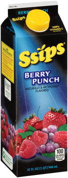 Ssips® Berry Punch Flavored Drink 32 fl. oz. Carton