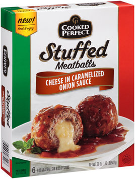 Cooked Perfect® Stuffed Meatballs Cheese in Caramelized Onion Sauce
