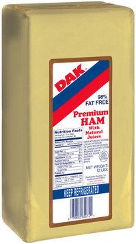 Dak Premium 98% Fat Free Deli Ham 12 Lb