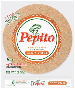Pepito® Whole Wheat Soft Taco Flour Tortillas 12 oz. Bag