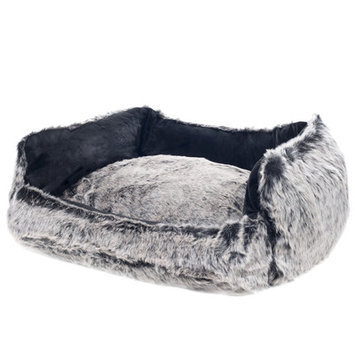 Paw Faux Fur Mink Dog Bed Size: Medium (22