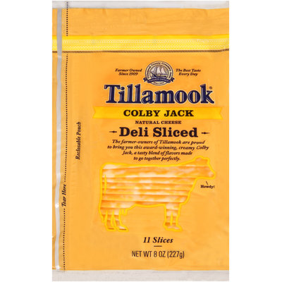 Tillamook® Natural Colby Jack Cheese Deli Slices 11 ct Bag