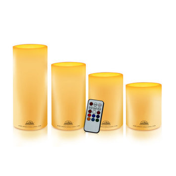 Wbm Llc Himalayan Glow 4 Piece Pillar Candle Set