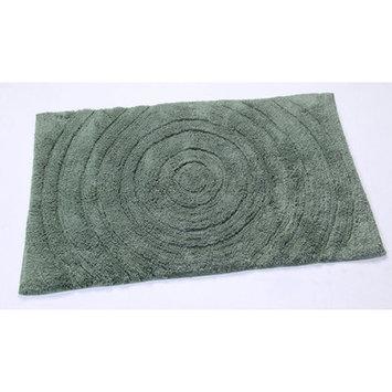 Textile Decor Castle Castle Hill 100% Cotton Echo Spray Latex Back Bath Rug, 34 H X 21 W, Green
