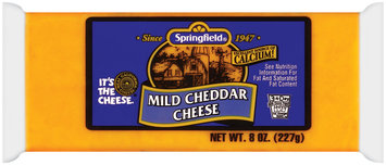 Springfield Mild Cheddar Cheese 8 Oz Wrapper