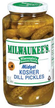Milwaukee's Midget Kosher Dill Pickles 32 Fl Oz Jar
