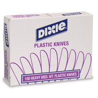 Dixie Plastic Cutlery, Heavy Medium-weight Knife (100 Per Box)