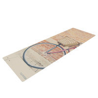 Kess Inhouse A Red Bicycle by Laura Evans Yoga Mat