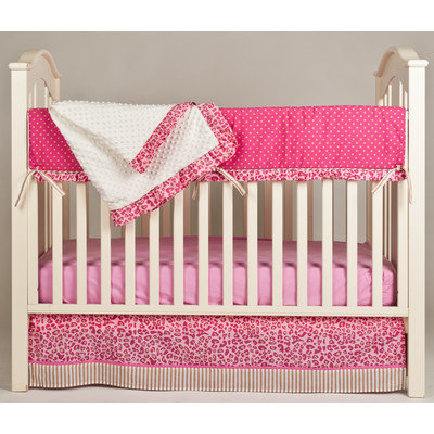 Pam Grace Creations Simply Cheetah 4 Piece Crib Bedding Set