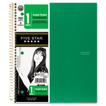 Five Star Wirebound Notebooks, Quadrille, 8 1/2 X 11,100 Sheets