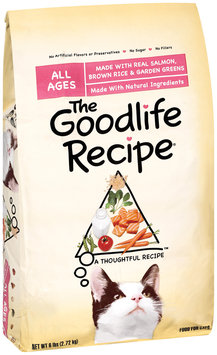 Archived The Goodlife Recipe Made W/Real Salmon Brown Rice & Garden Greens Dry Cat Food 6 Lb Bag